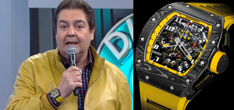 a12d4264c9b Relógios do Faustão - Richard Mille RM011 Yellow Storm With ...