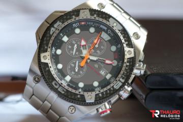 Relógios sempre marcam 10:10 - Relógio de Mergulho Citizen Carbon Eco-Drive