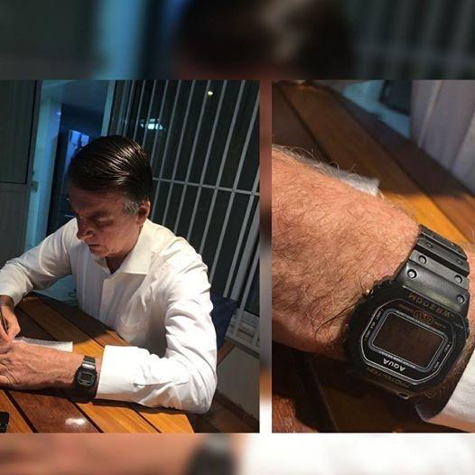 5d476bc291e Relógio Bolsonaro  A história real do Relógio Aqua do Presidente ...